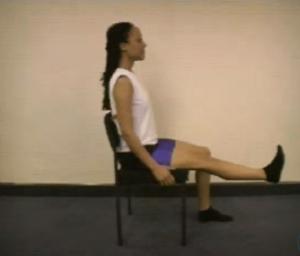 full arc knee extension exercise